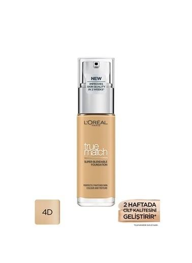 L'Oréal Paris True Match Fondöten 4D4W Natural Dore Bej